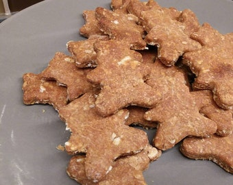 Dog Treats Homemade Cookies Fresh Healthy Banana Peanut Butter Pet Supplies Puppy Gifts Snacks Natural Baked Teddy Bear Tastey Delicious