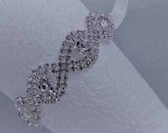 Rhinestone bracelet, Wristlet, Wedding bracelet,Bridesmaid,Bridal bracelet Flower girl