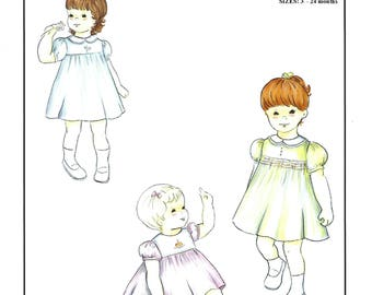Creations by Michie' #131 / Classic Dress / Sizes 3 - 24 mo and 2 - 5