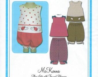 Bonnie Blue Pattern #122A / MC KENNA / Sizes 12 mo - 24 mo