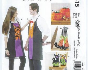 McCalls 6415 - Halloween / ADULT Aprons, Chair Decorations, Boots, Pumpkins, Cat & Owl