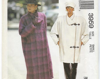 McCalls 3959 - MISSES Lined Coat & Jacket / Size Small (10 - 12)