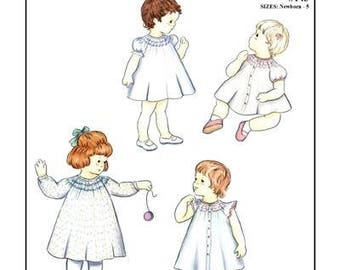 Creations by Michie' #143 / Bishop Dress / Sizes Newborn - 5