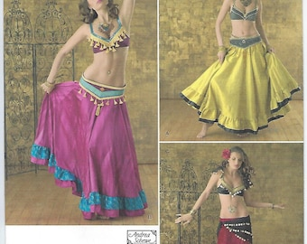 Simplicity 2158 - MISSES Belly Dancer Costumes / Size 6, 8, 10, 12