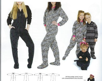 89522e6c34d5 Jalie 3244 - Footed Pajamas   29 Sizes   Child   Adult