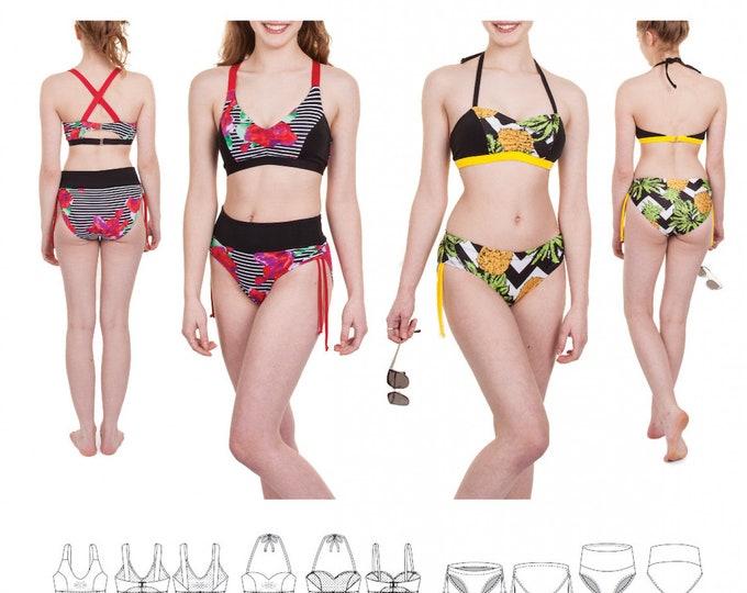 Featured listing image: Jalie 3671 / GIGI Bikinis / 27 Sizes / Child & Adult
