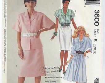 McCalls 3600 - MISSES Blouse & Skirts / Sizes 8, 10, 12