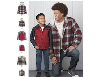 Simplicity 8475 - BOYS & MENS Shirt-Jacket