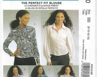 McCalls 5630 - MISSES Blouses & Tie / Sizes 8, 10, 12, 14