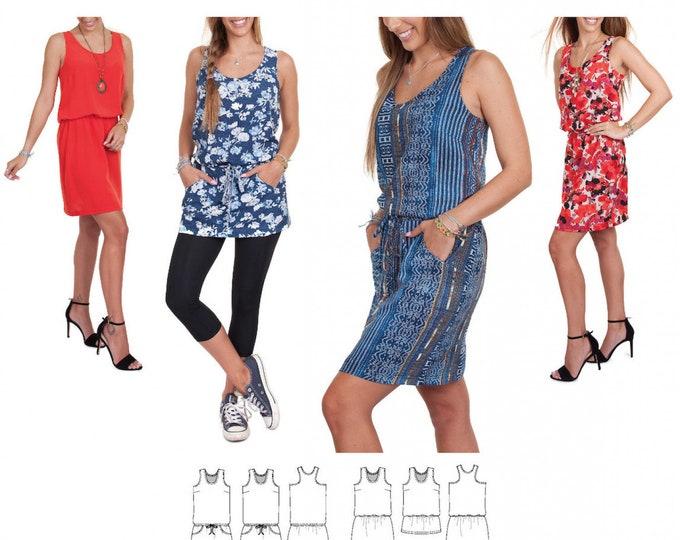 Featured listing image: Jalie 3678 - ROVA Tank Dress or Tunic / 27 Sizes / Child & Adult