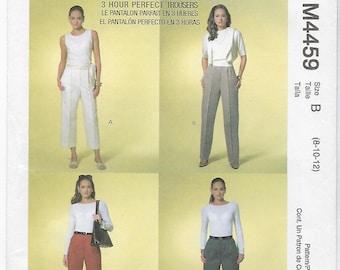 McCalls 4459 - MISSES Classic Fit Pants / Sizes 8, 10, 12