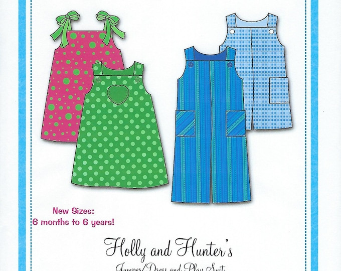 Featured listing image: Bonnie Blue Pattern #141 / HOLLY and HUNTER / Sizes 6 mo - 6 yr