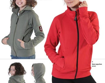Jalie 2795 - Zip-Front Jacket and Hoodie / 27 Sizes / Child & Adult