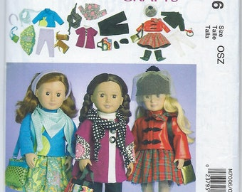"McCalls 7006 - 18"" Doll Clothes"