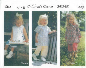 Children's Corner Sewing Pattern #229 / ABBIE / Sizes 5 - 8