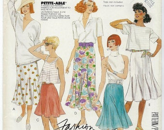 McCalls 3185 (P905) - VINTAGE - MISSES Skirts for Knits & Wovens / Size Small (10 - 12)