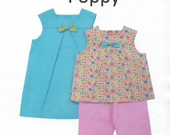Children's Corner Sewing Pattern #286 / POPPY / Sizes 1 - 4 and 5 - 8