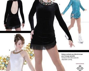 Jalie 2801 - Skating Dress with Large Keyhole Back / 22 Sizes / Child & Adult