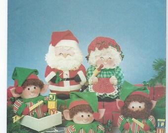 Butterick 5599 - VINTAGE - Santa, Mrs. Claus & Elves