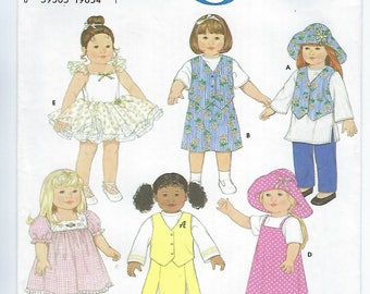 "Simplicity 7444 - VINTAGE - 18"" Doll Clothes"