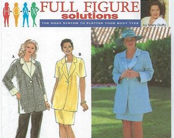 Simplicity 8143 - WOMENS Jacket, Skirt and Pants / Size 26W, 28W, 30W, 32W