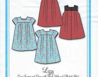 Bonnie Blue Pattern  #144 / LIZZY / Sizes 12 mo - 8 yr