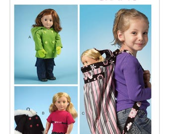 "McCalls 6854 - 18"" Doll Clothes & Backpack"