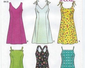 New Look 6631 - MISSES Dress with Variations / Size 6, 8, 10, 12, 14, 16