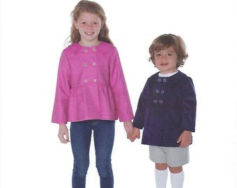Children's Corner Sewing Pattern #291 /TATE / Sizes 6mo - 6 and 7 - 14