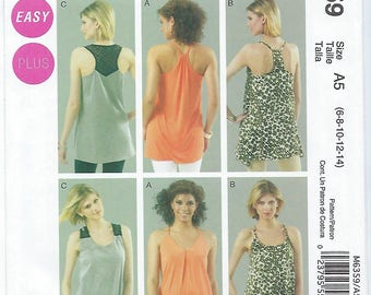McCalls 6359 - MISSES Tunics - Sizes 6, 8, 10, 12, 14