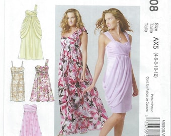 McCalls 6508 (AX5) - MISSES Lined Dresses / Sizes 4, 6, 8, 10, 12