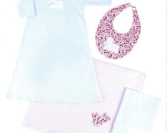 Children's Corner Sewing Pattern #237 / BUNNY KNIT NIGHTIE / Preemie - 24 mo