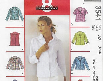 McCalls 3541 - MISSES Shirts / Size 4, 6, 8