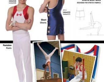 Jalie 2914 - Gymnastics Stirrup Pants and Shorts / 22 Sizes / Child & Adult
