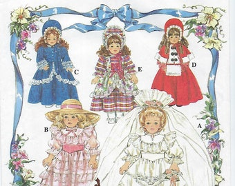 "Simplicity 8766 - Doll Clothes For 16"" & 18"" Collector Dolls"