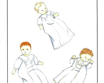 Creations by Michie' #112 / Boys Christening Gown / Sizes 3 - 12 mo