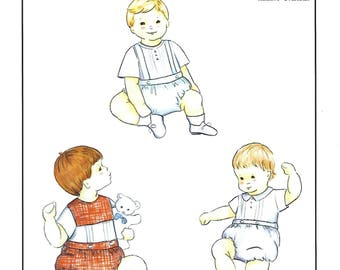 Creations by Michie' #107 /  Banded Boy Bubble / Sizes 3 - 24 mo