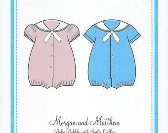 Bonnie Blue Pattern #113 / MORGAN and MATTHEW / Sizes 3 mo - 24 mo