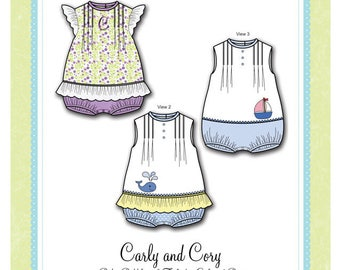 Bonnie Blue Pattern #301 / CARLY and CORY / Sizes 6 mo - 24 mo