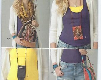 Simplicity 1685 - Shoulder Bag, Drawstring Bag, Scarf, Passholder, Bracelet and Wrap Cuff