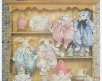 Butterick 6095 - Clown, Bunny & Cat Block Dolls