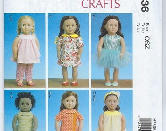 "McCalls 7336 - 18"" Doll Clothes"