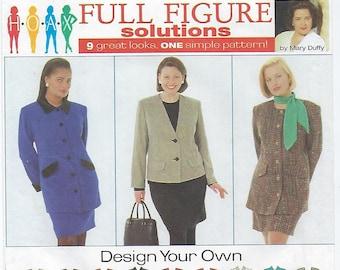 Simplicity 7292 - WOMENS/WOMENS PETITE Lined Suit - Size 26W, 28W, 30W, 32W