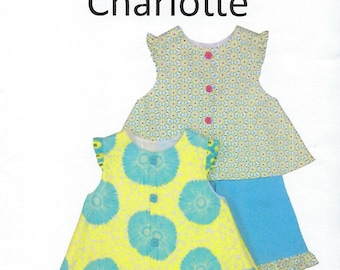 Children's Corner Sewing Pattern #242 / CHARLOTTE / Sizes 5 - 8