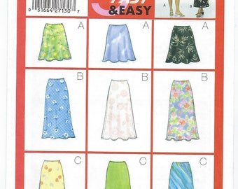 Butterick 5431 - MISSES Skirts / Sizes 12, 14, 16