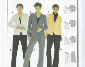 Burda 8279 - MISSES Pantsuit / Sizes 10, 12, 14, 16, 18, 20, 22