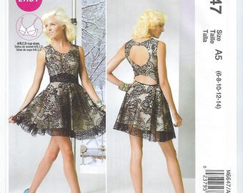 McCalls 6647 (A5) - MISSES Lined Dress / Sizes 6, 8, 10, 12, 14