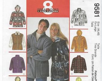 McCalls 9581 - MISSES & MENS Unisex Jacket / Size X-Large (46,48)