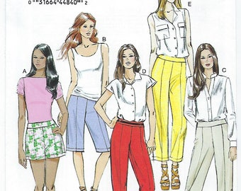 Vogue 8883 - MISSES Shorts and Pants / Sizes 6, 8, 10, 12, 14
