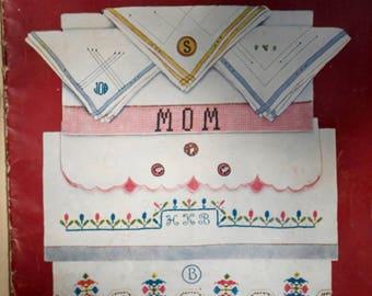 J. & P. Coats Book No. 11 Embroidery, Monograms, Initials and Handkerchiefs